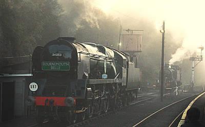 Photograph - Steaming At Dawn No2 by Tony Mills