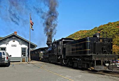 Train Photograph - Steaming Away by Steve Harrington