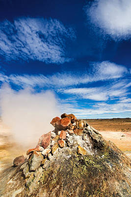 Steaming Iceland - Geothermal Area Hverir Namaskard Art Print by Matthias Hauser