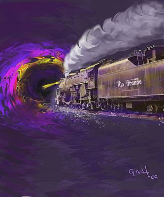 Steaming Into The Black Hole Of History Art Print by J Griff Griffin