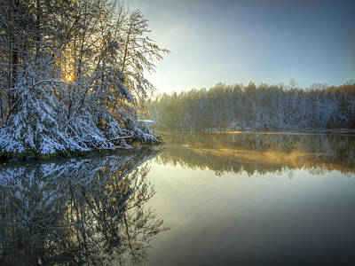 Photograph - Steaming Lake by Jay Huron