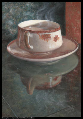 Steaming Tea In A Japanese Cup Art Print