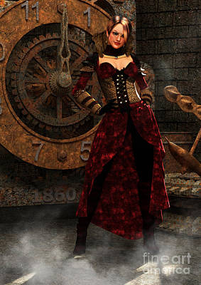 Steampunk Royalty-Free and Rights-Managed Images - Steampunk Adventurer by Elle Arden Walby