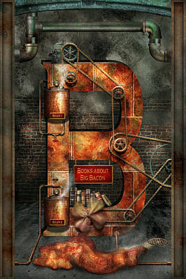 Digital Art - Steampunk - Alphabet - B Is For Belts by Mike Savad