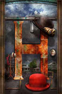 Photograph - Steampunk - Alphabet - H Is For Hats by Mike Savad