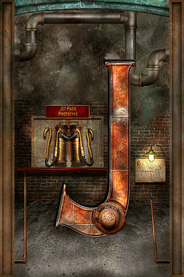 Photograph - Steampunk - Alphabet - J Is For Jet Pack by Mike Savad