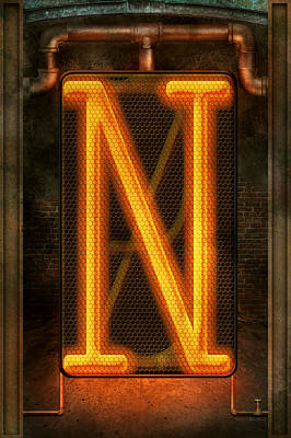 Photograph - Steampunk - Alphabet - N Is For Nixie Tube by Mike Savad