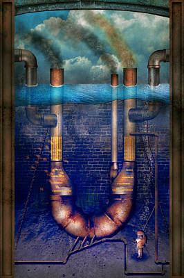 Photograph - Steampunk - Alphabet - U Is For Underwater Utopia by Mike Savad
