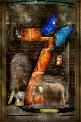 Photograph - Steampunk - Alphabet - Z Is For Zoology by Mike Savad