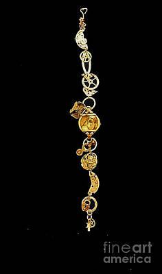 Handmade Silver Jewelry Jewelry - Steampunk Bracelet I by Elizabeth Hoskinson