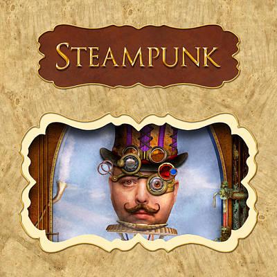 Steampunk Button Art Print by Mike Savad