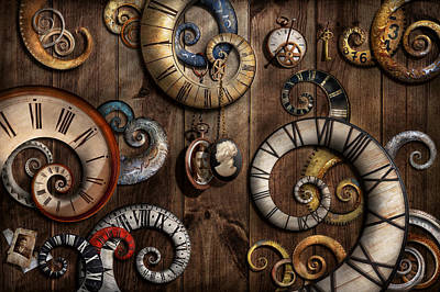 Photograph - Steampunk - Clock - Time Machine by Mike Savad