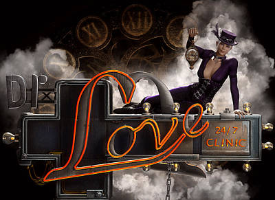 Steampunk Royalty-Free and Rights-Managed Images - Steampunk - Dr. Love by Suzanne Amberson