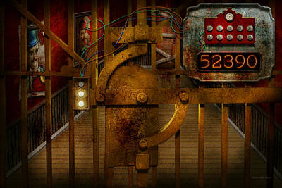 Digital Art - Steampunk - Dystopia - The Vault by Mike Savad