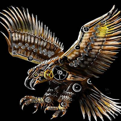 Steampunk Photograph - #steampunk #eagle #eagleds2 #bird by David Burles