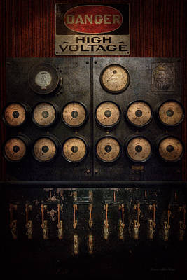Electrician Photograph - Steampunk - Electrical - Center Of Power by Mike Savad