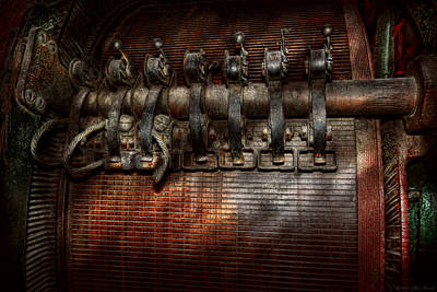 Steampunk - Electrical - Motorized  Art Print by Mike Savad