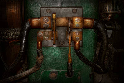 Steampunk - Electrical - Pull The Switch  Art Print by Mike Savad