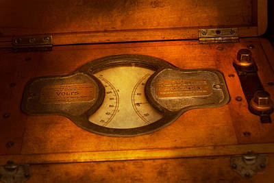 Photograph - Steampunk - Electrician - The Portable Volt Meter by Mike Savad