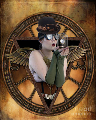 Cage Photograph - Steampunk Fairy by Juli Scalzi