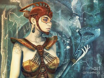 Digital Art - Steampunk Fantasy by Jutta Maria Pusl