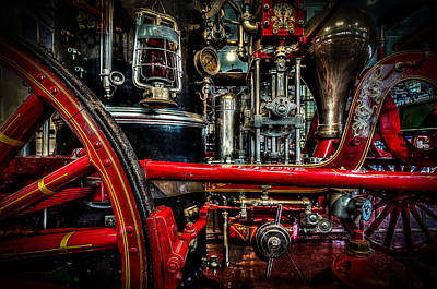 Steampunk Royalty-Free and Rights-Managed Images - Steampunk Fire Wagon by David Morefield