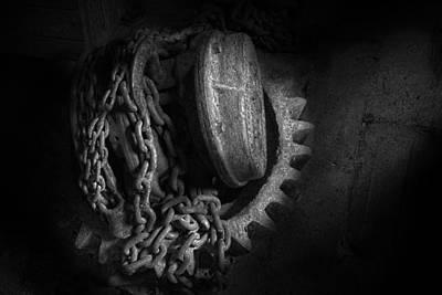 Steampunk - Gear - Hoist And Chain Art Print by Mike Savad