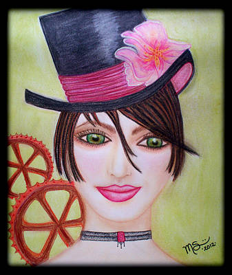 Pastel - Steampunk Girl by Absinthe Art By Michelle LeAnn Scott