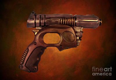 Steampunk - Gun - Be Gone Gun Art Print by Paul Ward