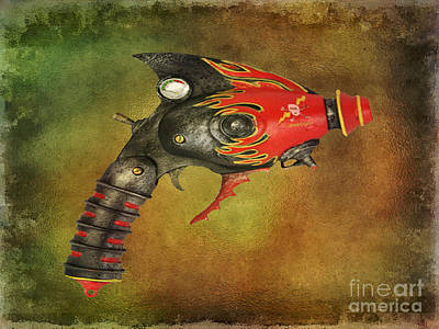 Steampunk - Gun - Electric Raygun Art Print by Paul Ward