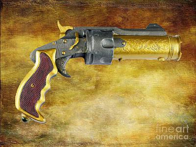 Steampunk - Gun - The Hand Cannon Art Print by Paul Ward