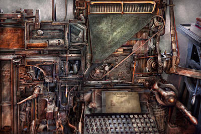 Steampunk - Machine - All The Bells And Whistles  Art Print by Mike Savad