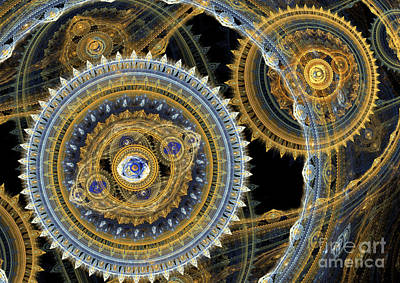 Digital Art - Steampunk Machine by Martin Capek