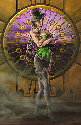 Steampunk Medusa Art Print by Rob Carlos