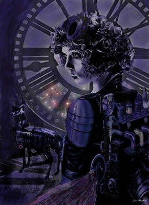 Digital Art - Steampunk Midnight by Jane Schnetlage