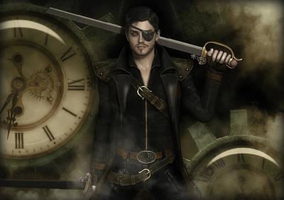 Digital Art - Steampunk Pirate by Rachel Dudley