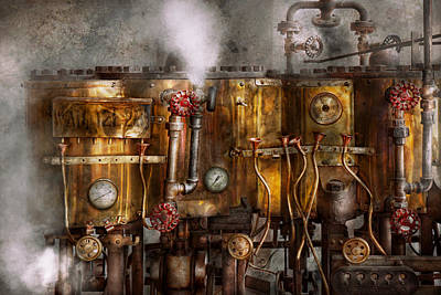 Photograph - Steampunk - Plumbing - Distilation Apparatus  by Mike Savad