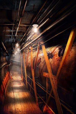 Photograph - Steampunk - Plumbing - The Hallway by Mike Savad