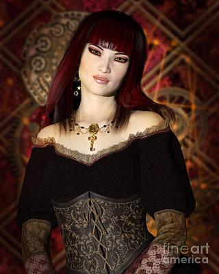 Steampunk Portrait Art Print