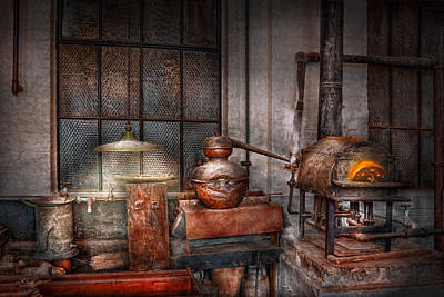 Photograph - Steampunk - Private Distillery  by Mike Savad