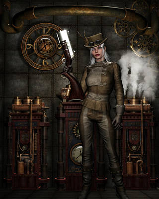 Steampunk Royalty-Free and Rights-Managed Images - Steampunk Rebel by Suzanne Amberson