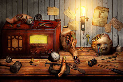 Digital Art - Steampunk - Repairing A Friendship by Mike Savad
