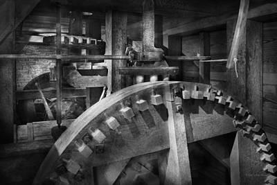 Grist Mill Photograph - Steampunk - Runs Like Clockwork by Mike Savad