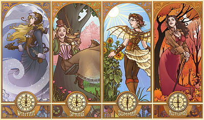 Digital Art - Steampunk Seasons by Dani Kaulakis