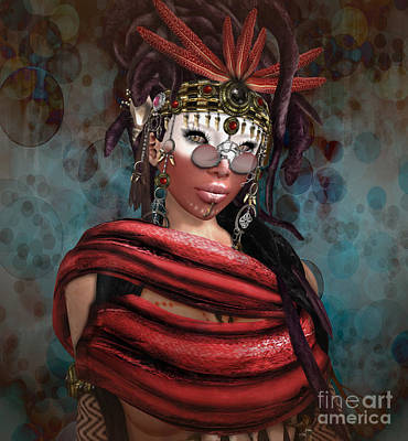 Digital Art - Steampunk Shaman by Georgina Hannay