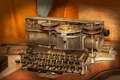 Photograph - Steampunk - The History Of Typing by Mike Savad