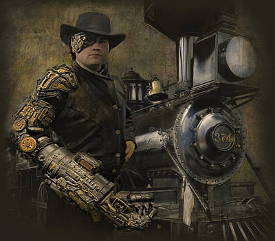 Steampunk Royalty-Free and Rights-Managed Images - SteamPunk - The Man 1 by Jeff Burgess