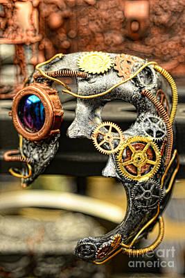 Steampunk - The Mask Art Print by Paul Ward