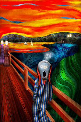 Edward Munch Digital Art - Steampunk - The Scream by Mike Savad