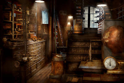 Photograph - Steampunk - Tool Room Of A Mad Man by Mike Savad